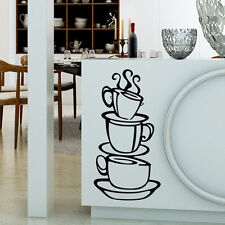 DIY Removable Coffee Cup Decals Vinyl Wall Sticker Home Kitchen House Decor SY1