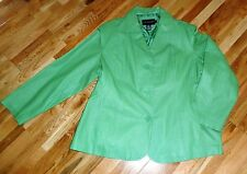 Green Leather Jacket size 2XL by Centigrade