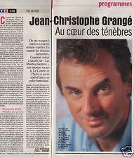 Coupure de presse Clipping 2000 Jean-Christophe Grangé  (1 page 1/3)