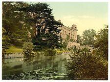 3 Victoriens Vues Photos de Warwick Château Vintage Ancien Vieux Affiche NEUF