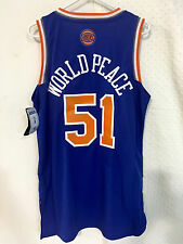 Adidas Swingman NBA Jersey New York Knicks Metta World Peace Blue sz S