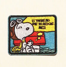 is there no one to rescue me! snoopy embroidered Iron/Sew On Patch