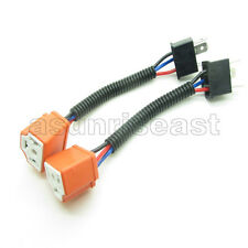 2 x H4 Male to H4 Female Socket Converter Cable Harness Connector Adapter