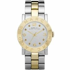 Marc by Marc Jacobs Amy Silver Dial Two Tone Gold Plated Women's Watch MBM3139