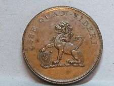 YORKSHIRE**HULL* PICARD LEAD WORKS-LION**HALFPENNY TOKEN DATED 1812