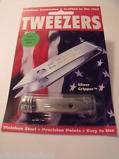 Uncle Bill's Sliver Gripper TWEEZER, In Tube - Made in USA - EDC/Survival Tool
