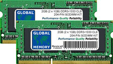2GB 2x1GB DDR3 1333MHz PC3-10600 204-PIN SODIMM MACBOOK PRO EARLY-LATE 2011 RAM