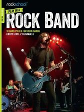 Rockschool Play In A Rock Band Learn to Play Guitar Beginner Practice Music Book