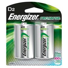 Energizer D2 Rechargeable Size D Batteries, 2-Count Recharge NH50BP-2 EXP 2021