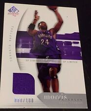 MORRIS PETERSON 2005-06 SP Authentic LIMITED Game Used JERSEY Card #d /100