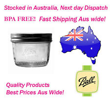 6 x 240ml Kerr Half Pint Ball Mason Australia Preserving Jars FLAT Shipping!
