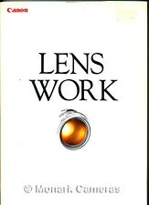 Canon EF Lens Work, 1992 Edition Instruction Book, EOS AF Lenses, Others Listed