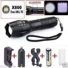Alonefire X800 Tactical 2000 Lumens LED Military Flashlight + BATTERY + CHARGER