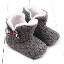 Toddler Baby Crochet/Knit Fleece Boots Girl Toddler Snow Booties Crib Shoes^12~
