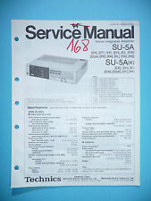 Service MANUAL PER TECHNICS su-5a, ORIGINALE