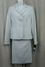 Le Suit Skirt Suit Sz 6 Sand Country Club 2 Piece Business Cocktail Skirt Suit