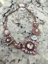 Betsy Johnson NWT $68 Pink Jewel Necklace Adjustable