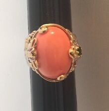 MICHAEL VALITUTTI  GEMS EN VOGUE STERLING BAMBOO CORAL RING SZ 5