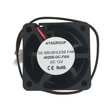 40x40x20mm 12V 2Pin 4020S DC Brushless Cooling Exhaust Fan w/2-Pin Connector