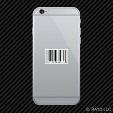 Made In Mexico Barcode Cell Phone Sticker Mobile Die Cut upc mexican hecho en
