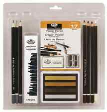 17 PIECE SOFT PASTEL WILLOW CHARCOAL & PENCIL DRAWING SKETCHING ART SET RART2007