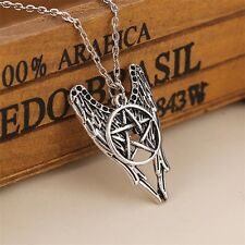SUPERNATURAL PENTAGRAM PENDANT WITH WINGS AND CIRCULAR STAR Unique DECENT Gift