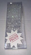Set of 12 Icicle Christmas Holiday Ornaments White Clear Glitter