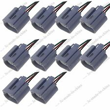 10X H13 Headlight Bulb Male Wire Harness Connector Wiring Plug Socket Adapters