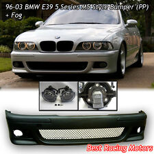 96-03 BMW E39 5-Series M Style Front Bumper Cover (PP) + Fog Lights