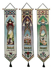 Jim Shore Easter Angels Tapestry Wall Hanging Bellpull Set ~ Set/3