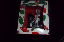 Warner Brothers Store Bugs Bunny & Playboy Penguin Skating XMAS Ornament (RARE)