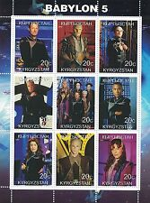 BABYLON 5 CULT SCI FI TV SERIES KYRGYZSTAN 2000 MNH STAMP SHEETLET