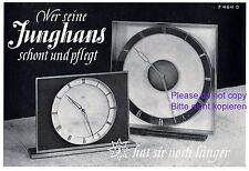 Uhren Junghans Reklame 1942 Uhr Werbung Pflege Schonung