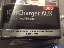 iPhone car charger with aux audio output