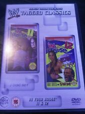 WWE Tagged Classics IN YOUR HOUSE 11 and 12 WWF PAL UK 2 Disc Set