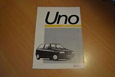 DEPLIANT Fiat Uno 45 & 45 S de 1991