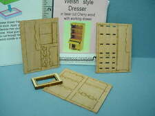 """Dollhouse Miniature Welsh Style Dresser Kit 1/4"""" (1:48) Scale  #4892T Templewood"""