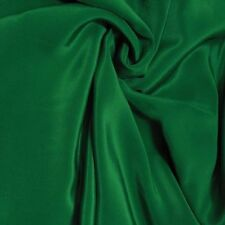 "Silk Fabric 2 Yards 45"" wide 12mm Pure Silk Crepe De Chine Forest Green"