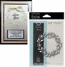 MEMORY BOX DIES - CASCADIA WREATH metal die 98820 New Christmas,Holidays