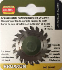 Proxxon 50mm Tungsteno con punta lama 20T 28017 / Direct da RDGTools