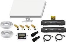 Sat Anlage 2 Teilnehmer Selfsat H30D2 Antenne +HD Receiver Alles Dabei !!!