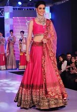 Purple Oyster Plum pink lehenga with heavy work and blouse