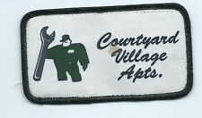 Courtyard Village Apartments employee patch 2-1/2 X 4-3/8 #483