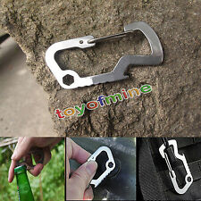 Survival Multi Cool Tools Mosquetón Llavero Travel Abrebotellas Cap Lifter