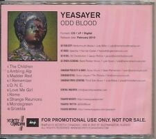 Odd Blood by Yeasayer (CD 2010 Secretly Canadian) RARE ADVANCE PROMO! SHIPS FREE