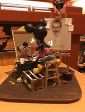 Disney Mickey Mouse and Walt Disney Self Portrait Figurine by Charles Boyer New