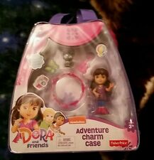 NIP DORA AND FRIENDS ADVENTURE CHARM CASE AND FIGURE FISHER PRICE NICKELODEON