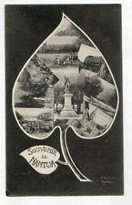 NANTUA (01) SOUVENIR de ,,, MONUMENTS , PECHEUR à la ligne au LAC début 1900