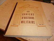 Cahier d'histoire militaire 6° région Lorraine Guerre  carte bataille Belfort