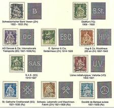 Switzerland stamps 10 PERFINS on Sitting Helvetia with sword  CANC  VF